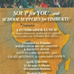Soup For You…School Supplies For Timbuktu